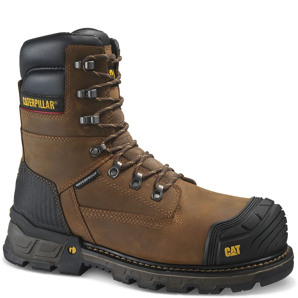 Image for Caterpillar Men's Excavator XL WP Safety Boots - Dark Brown from bootbay