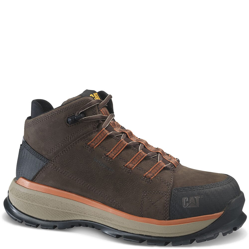 Image for Caterpillar Men's Utilize WP Safety Boots - Dark Bitter Chocolate from bootbay