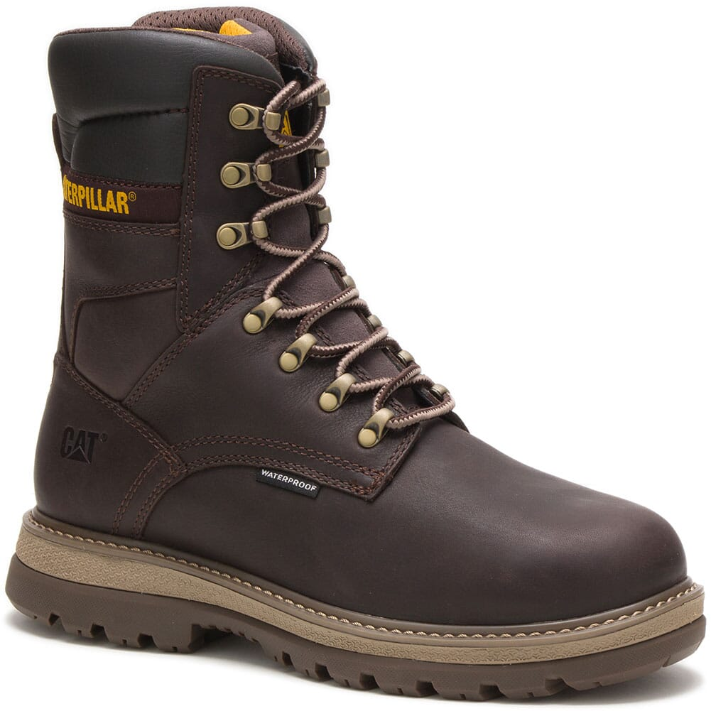 Image for Caterpillar Men's Fairbanks WP TX Steel Toe Safety Boots - Mulch from bootbay
