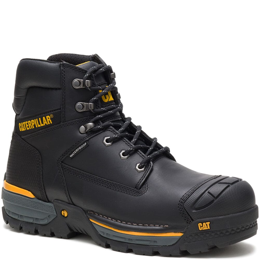 Image for Caterpillar Men's Excavator LT WP Comp Toe Safety Boots - Black from bootbay