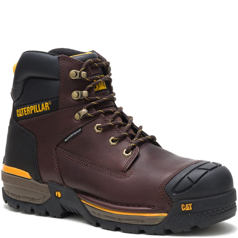 Image for Caterpillar Men's Excavator LT WP Comp Toe Safety Boots - Espresso from bootbay