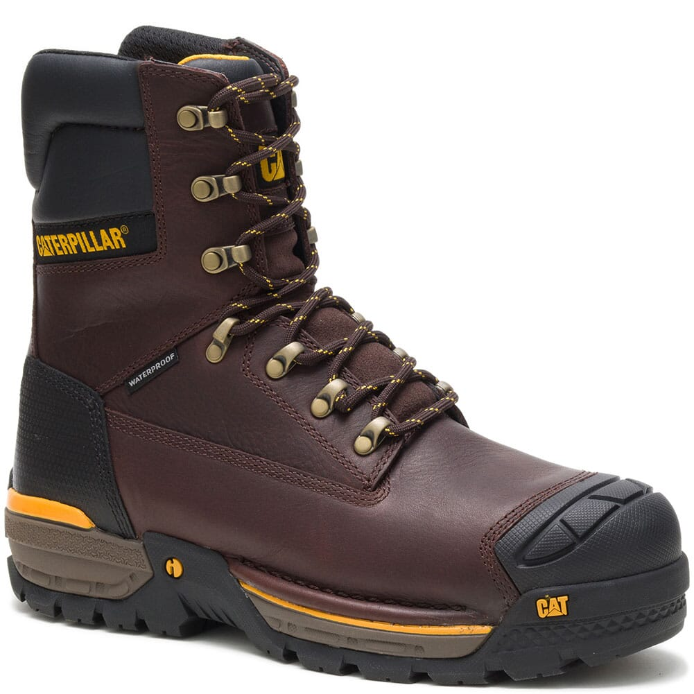 Image for Caterpillar Men's Excavator LT WP CT Safety Boots - Espresso from bootbay