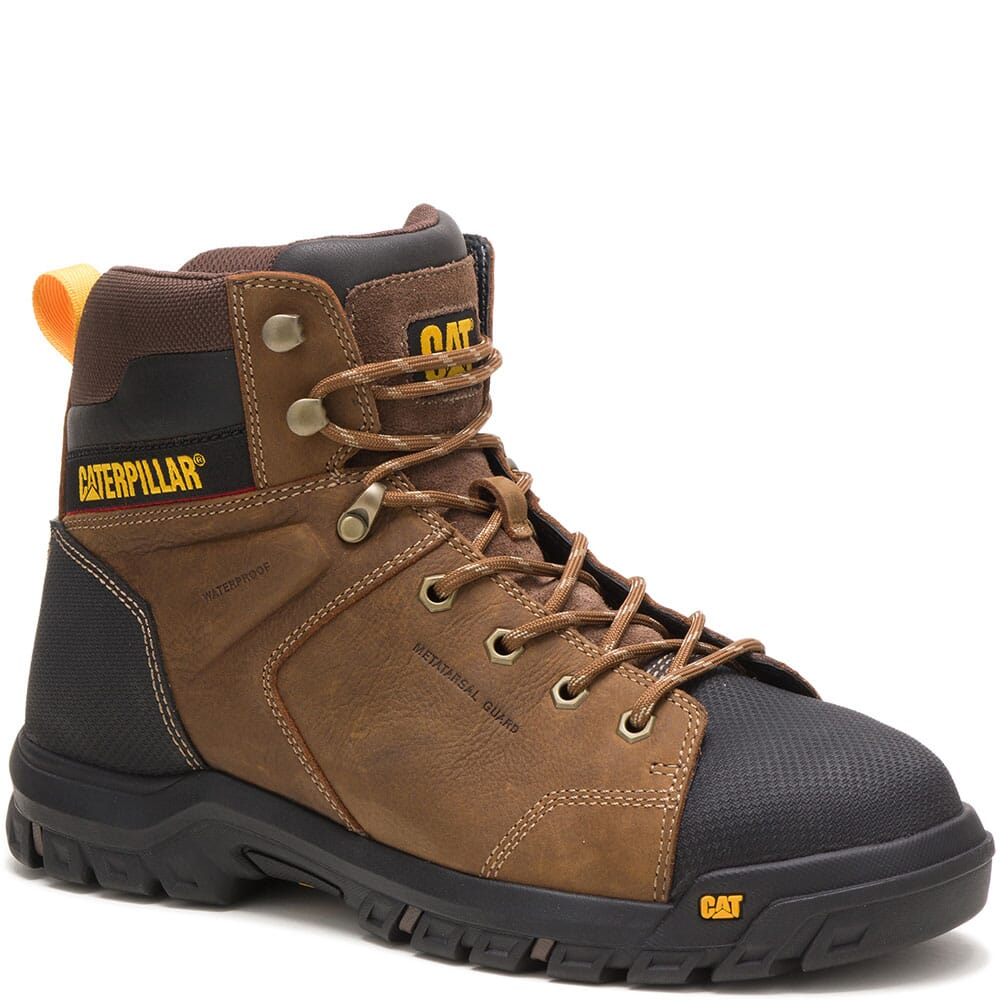 Image for Caterpillar Men's Wellspring WP Met Guard Safety Boots - Red Brown from bootbay