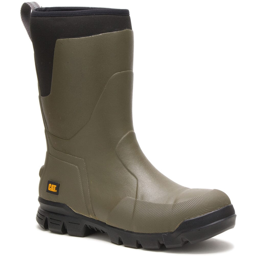 Image for Caterpillar Unisex Stormers Rubber Safety Boots - Olive Night from bootbay