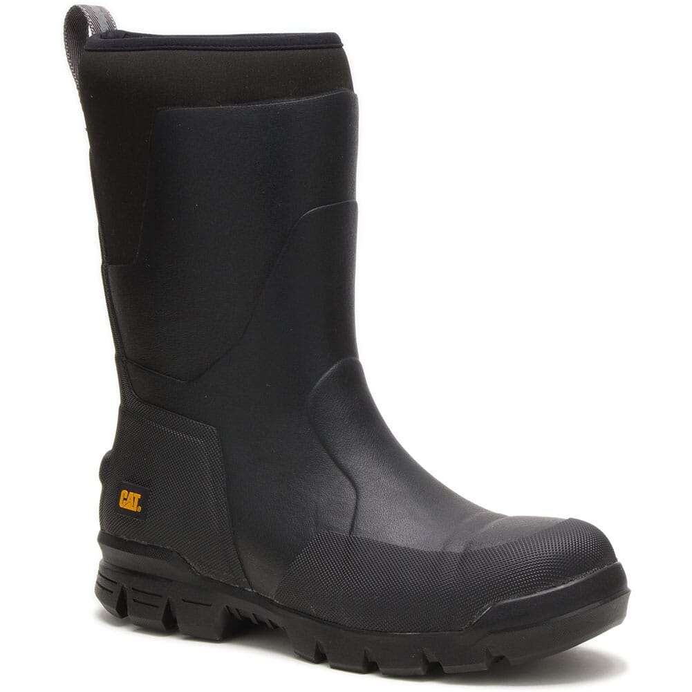 Image for Caterpillar Unisex Stormers Rubber Safety Boots - Black from elliottsboots