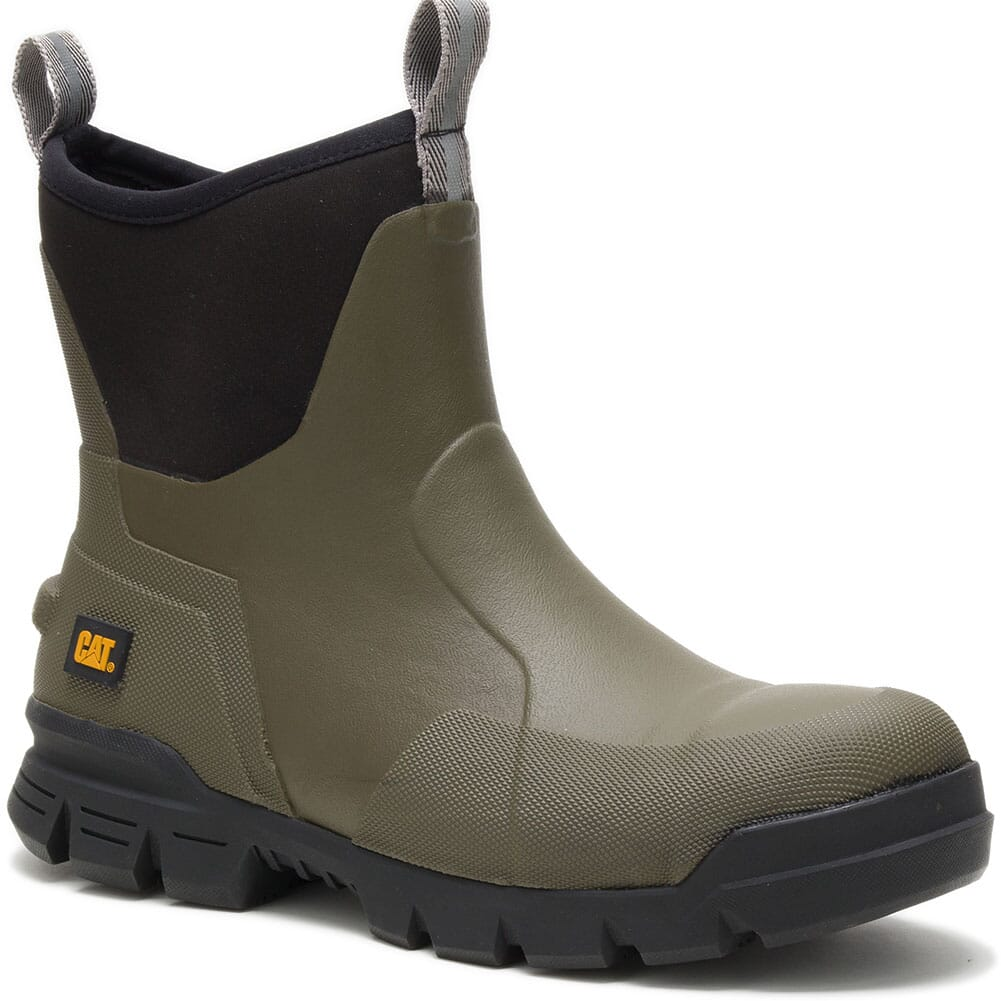Image for Caterpillar Unisex Stormers Rubber EH Safety Boots - Olive Night from elliottsboots
