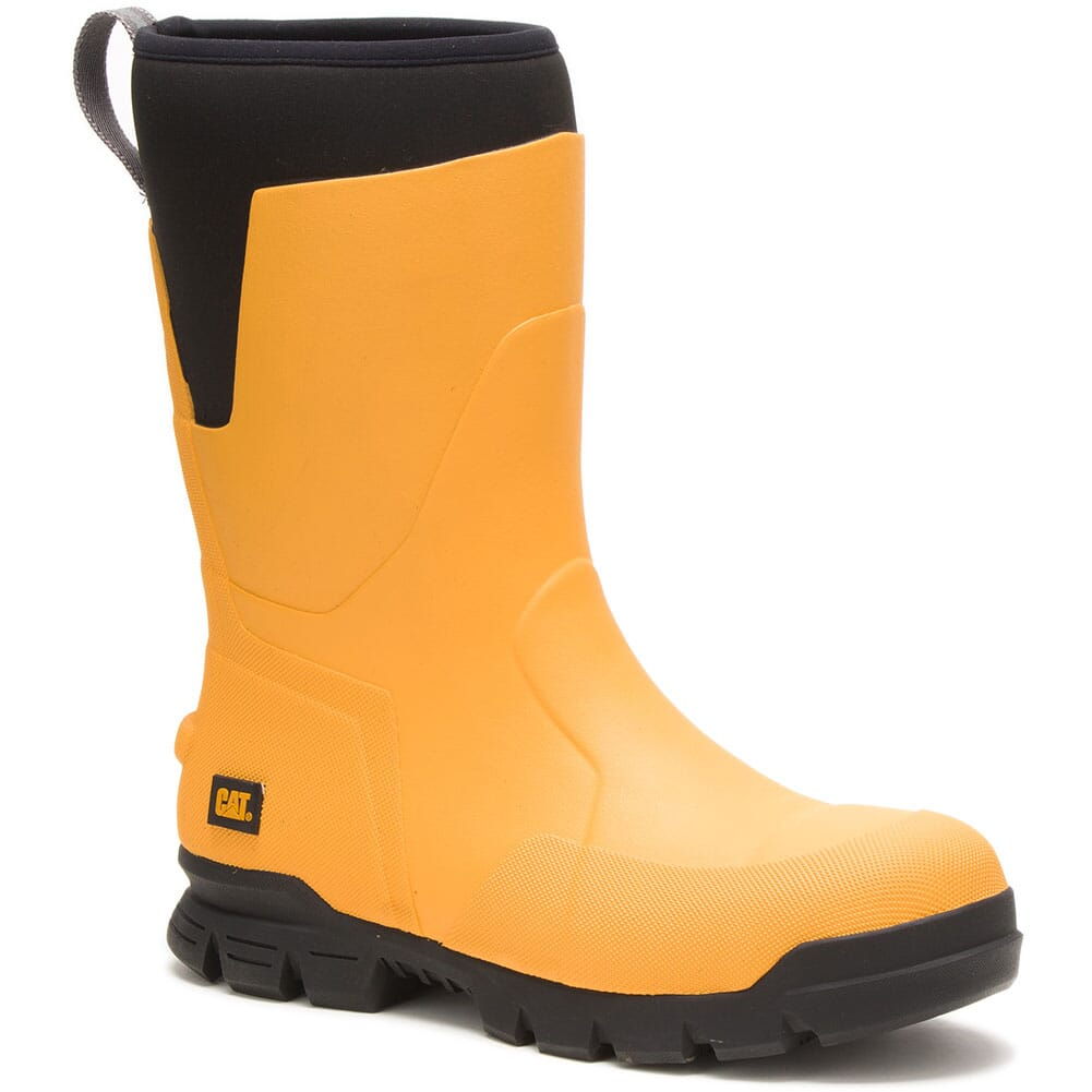 Image for Caterpillar Unisex Stormers Rubber EH Safety Boots - Cat Yellow from elliottsboots
