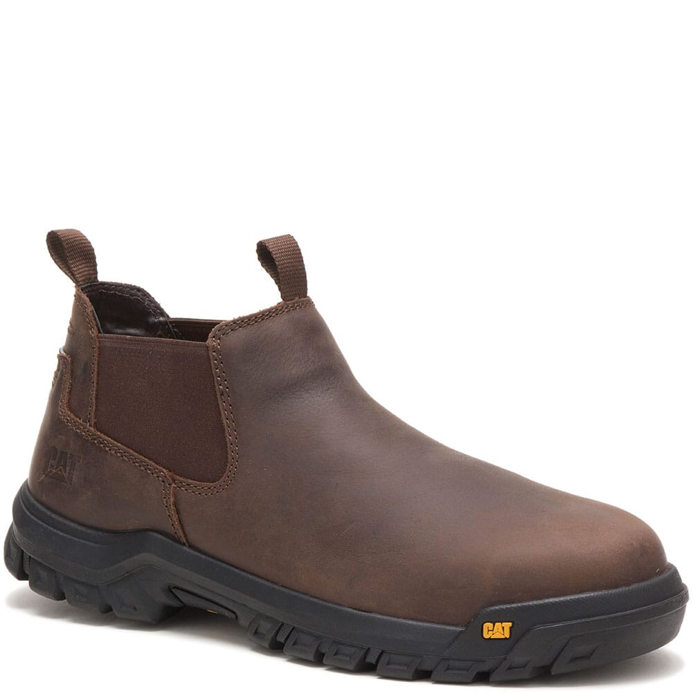 Image for Caterpillar Men's Outline Slip-On Safety Shoes - Seal Brown from bootbay