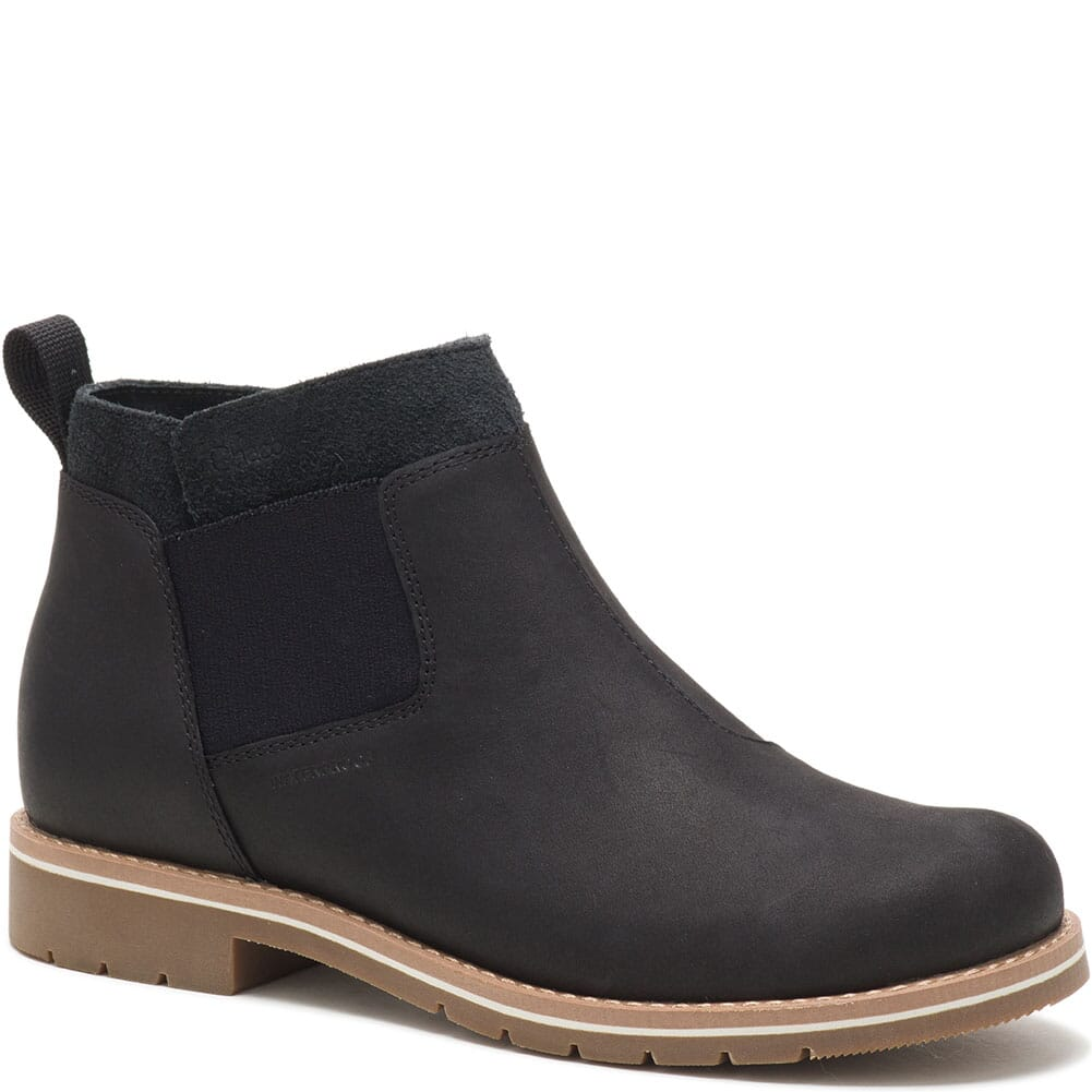 Image for Chaco Women's Cataluna Explorer Chelsea Casual Boots - Black from bootbay