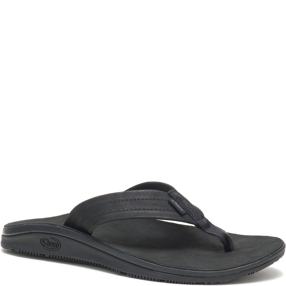 Image for Chaco Women's Classic Leather Flip Flop - Black from bootbay