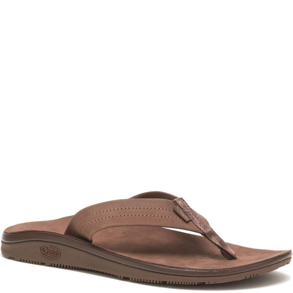Image for Chaco Women's Classic Leather Flip Flop - Dark Brown from elliottsboots