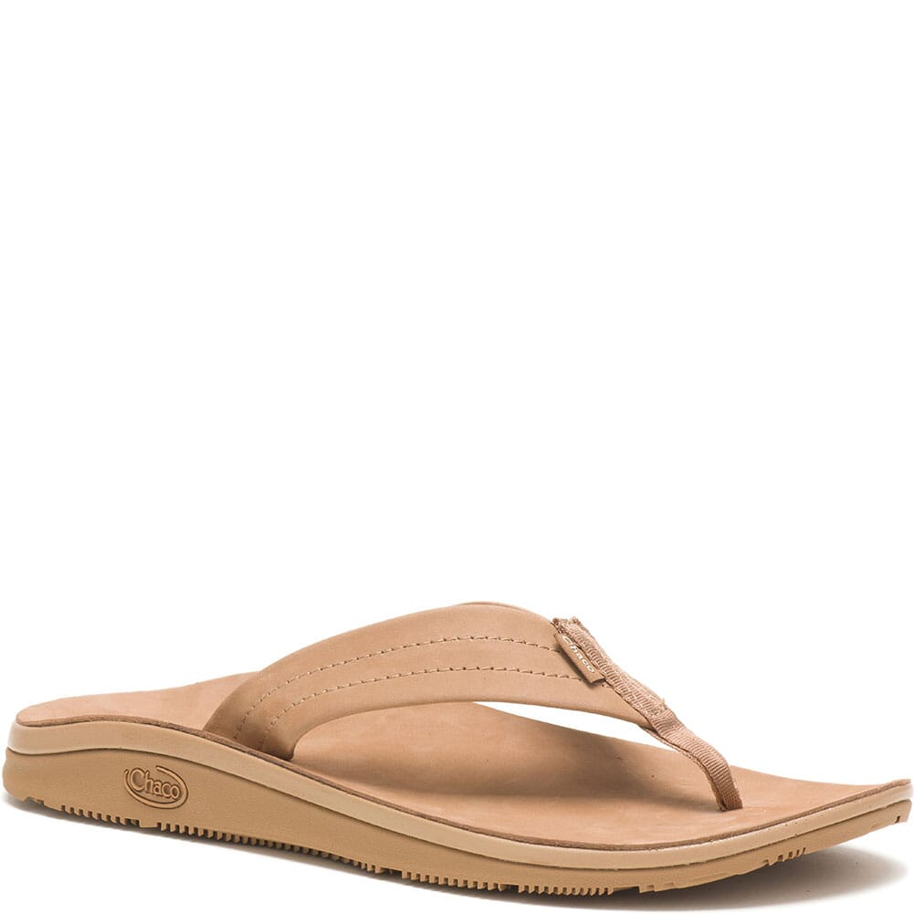 Image for Chaco Women's Classic Leather Flip Flop - Tan from bootbay