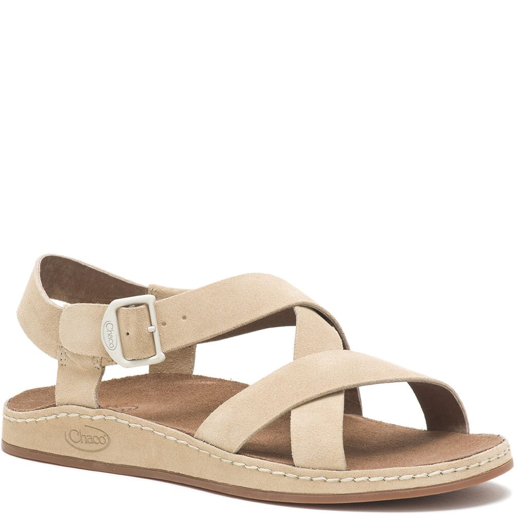 Image for Chaco Women's Wayfarer Sandals - Suede Buff from elliottsboots