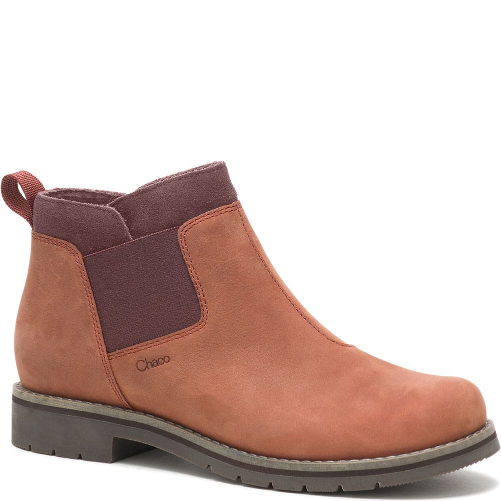 Image for Chaco Women's Cataluna Explorer Chelsea Casual Boots - Mahogany from bootbay