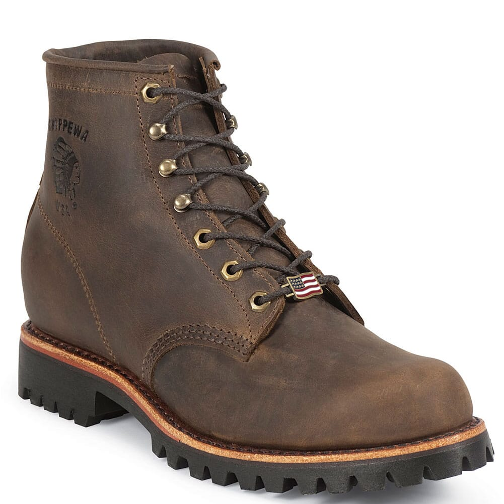 Image for Chippewa Men's Rugged Safety Boots - Chocolate from bootbay