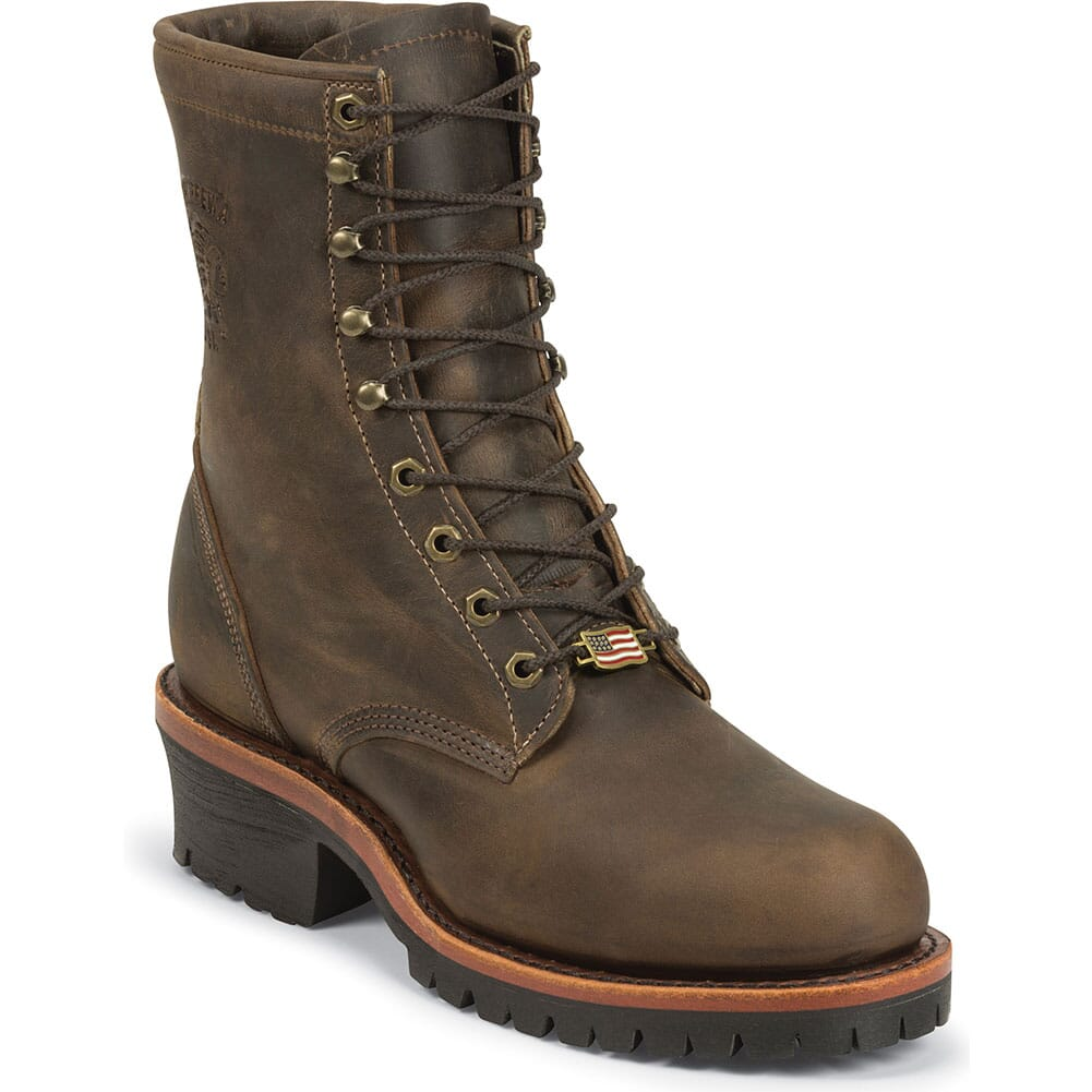 Image for Chippewa Men's Classics Safety Loggers - Chocolate from bootbay