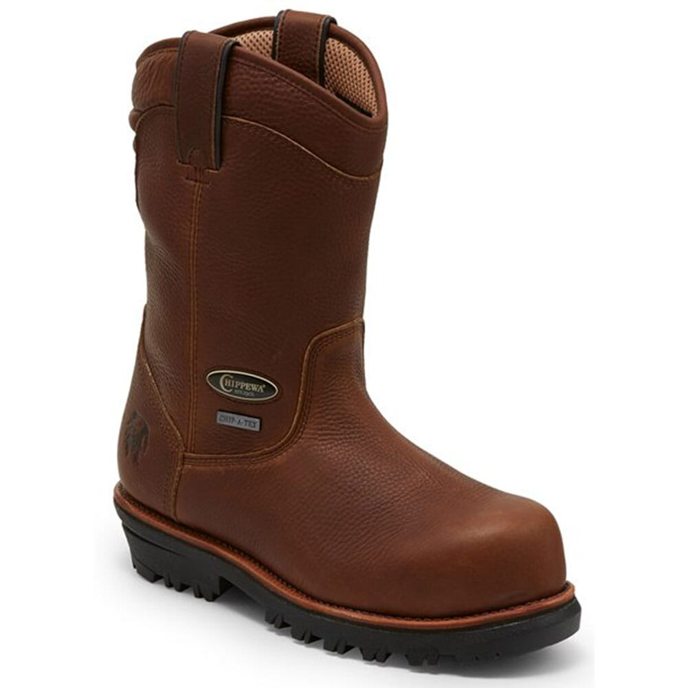 Image for Chippewa Men's Honcho WP Pull On Safety Boots - Brown from bootbay