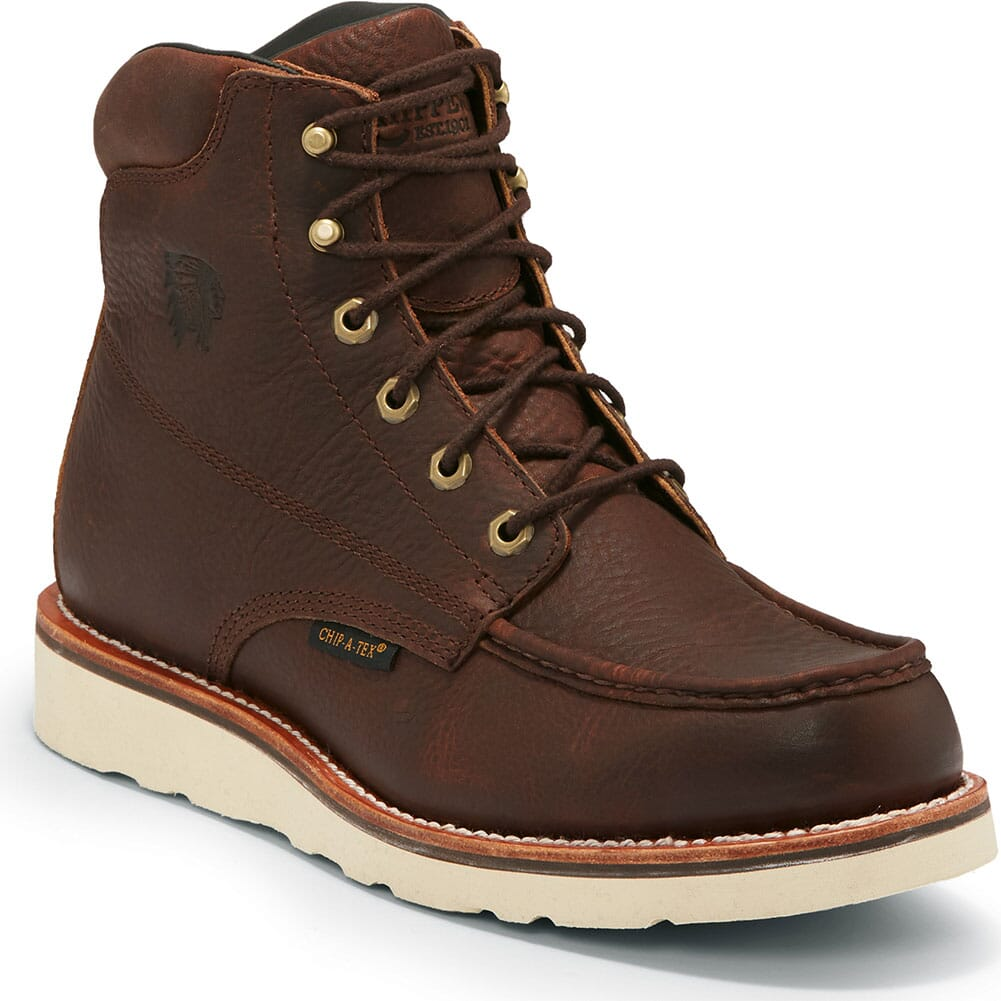 Image for Chippewa Men's Edge Walker WP Work Boots - Brown from bootbay