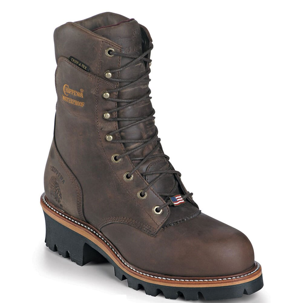 Image for Chippewa Men's WP Rugged Safety Loggers - Bay Apache from bootbay