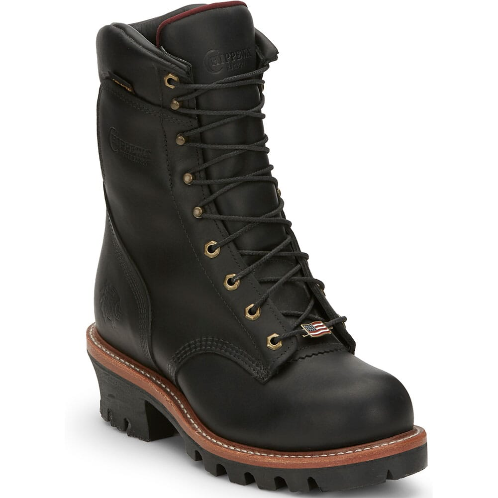 Image for Chippewa Men's Rugged Oiled Safety Loggers - Black from bootbay