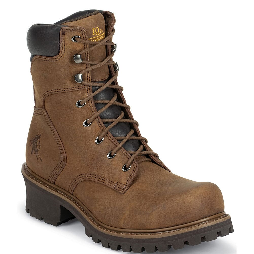 Image for Chippewa Men's Tough IQ Hador Safety Loggers - Bark from bootbay