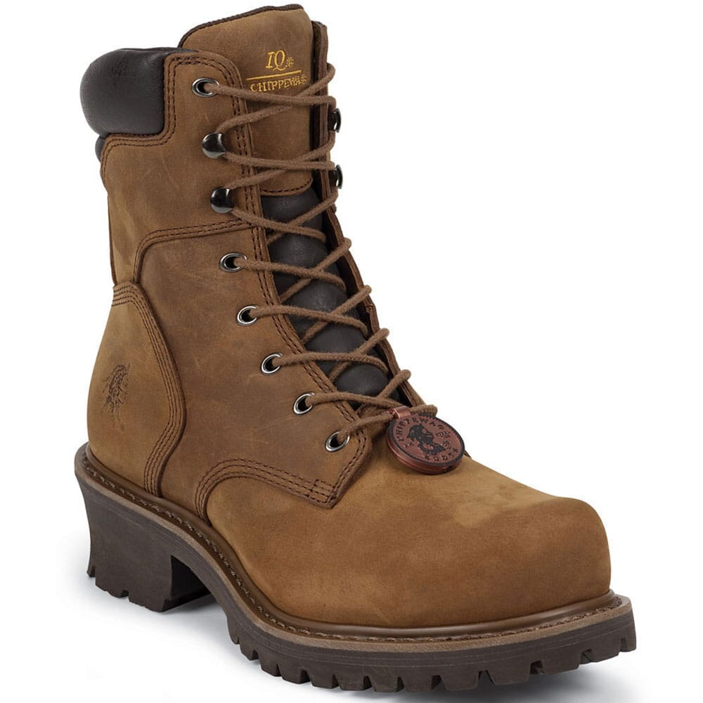 Image for Chippewa Men's Tough IQ Safety Loggers - Bark from bootbay