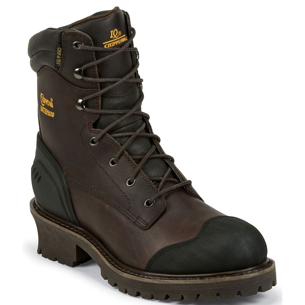 Image for Chippewa Men's IQ INS 8IN Safety Loggers - Chocolate from bootbay