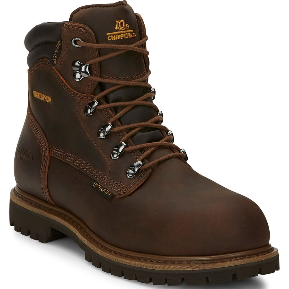 Image for Chippewa Men's Birkhead Insulated Safety Boots - Brown from bootbay