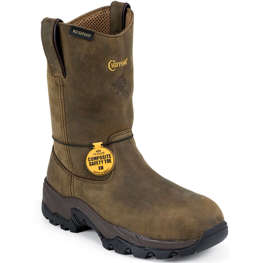 Image for Chippewa Men's IQ Pull On Safety Loggers - Bay Apache from bootbay
