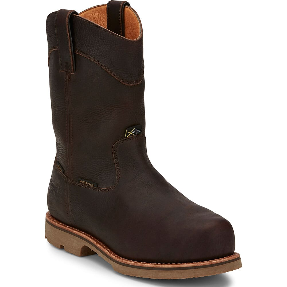 Image for Chippewa Men's Serious+ Met Guard Pull On Safety Boots - Brown from bootbay
