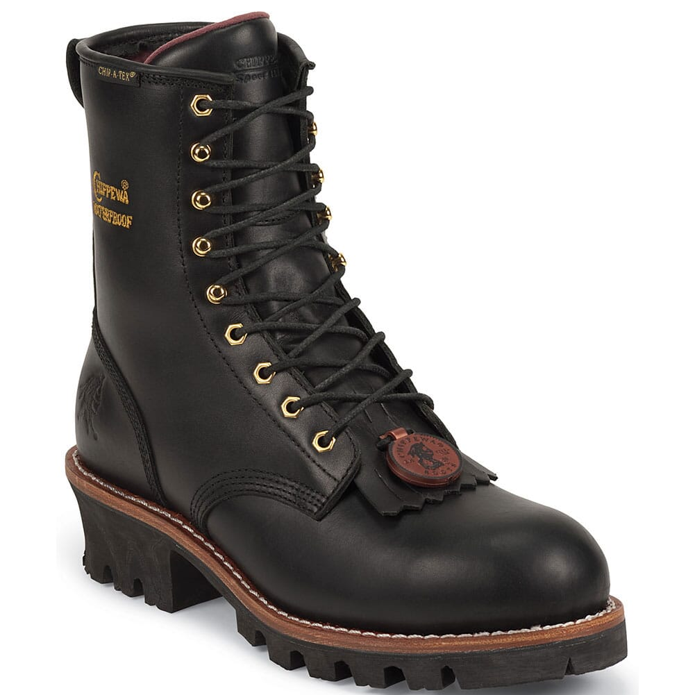 Image for Chippewa Women's Waterproof Safety Loggers - Black from bootbay