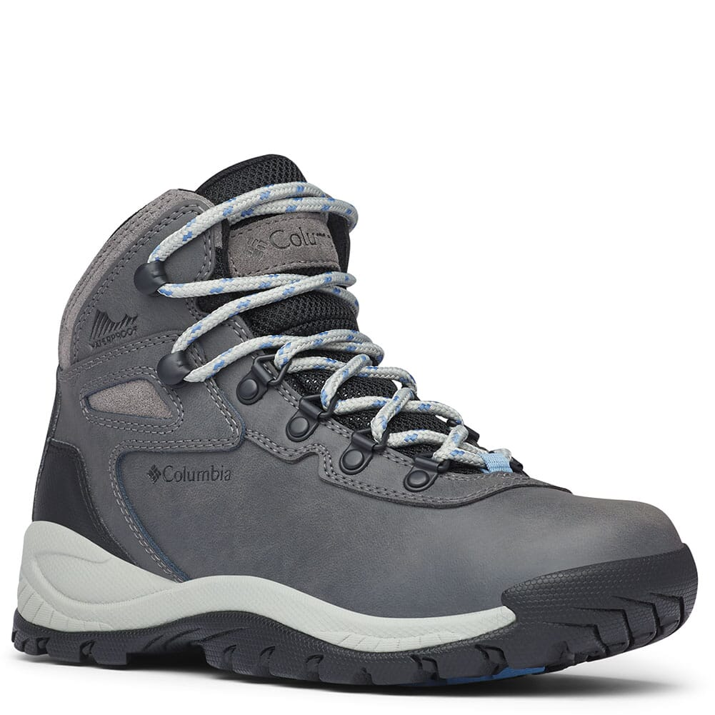Image for Columbia Women's Newton Ridge Plus Hiking Boots - Quarry/Cool Wave from elliottsboots