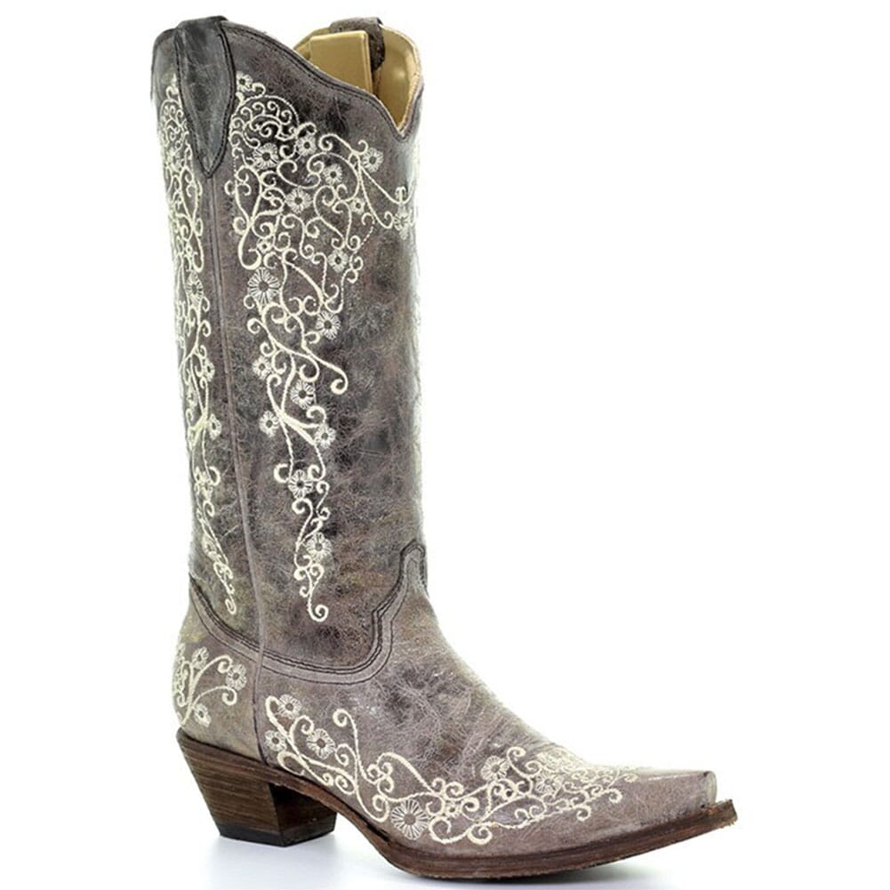 Image for Corral Women's Snip Lisa Western Boots - Brown Crater/Bone from elliottsboots