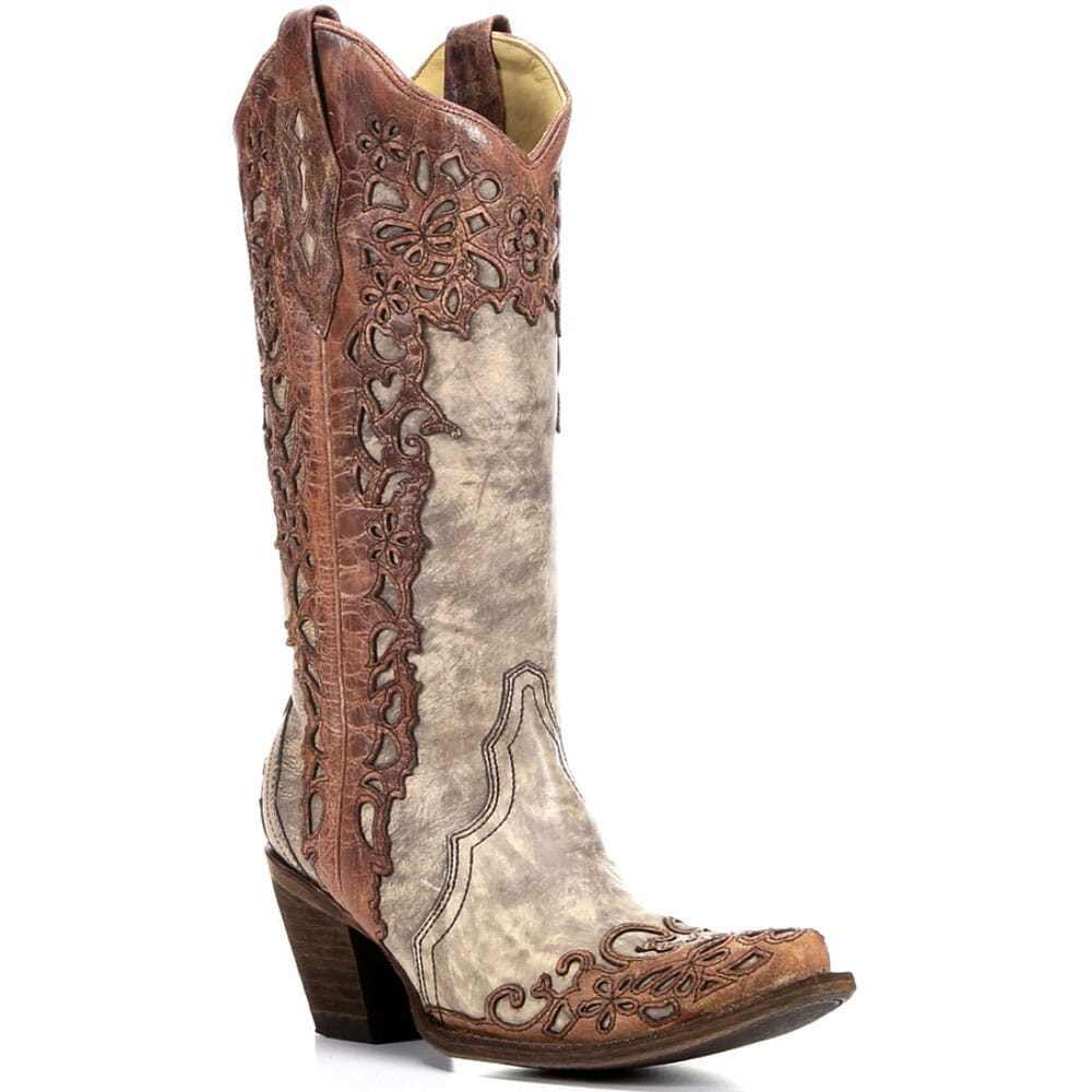 Image for Corral Women's Overlay Western Boots - Sand/Cognac from bootbay
