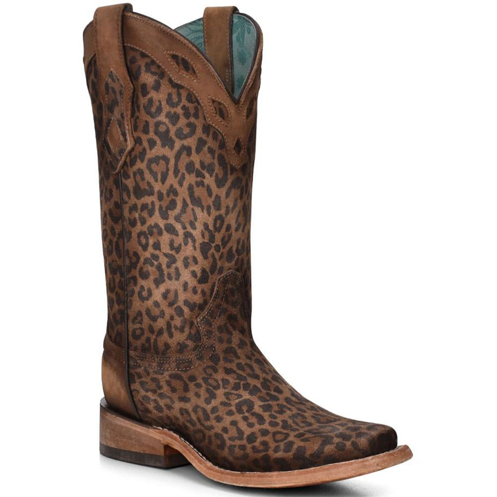 Image for Corral Women's Overlay Western Boots - Sand Leopard from bootbay