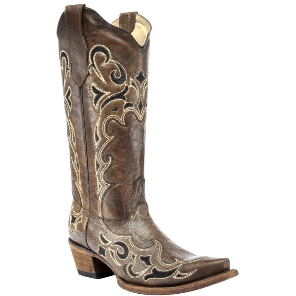 Image for Circle G by Corral Women's Embroidery Western Boots - Brown/Black from elliottsboots