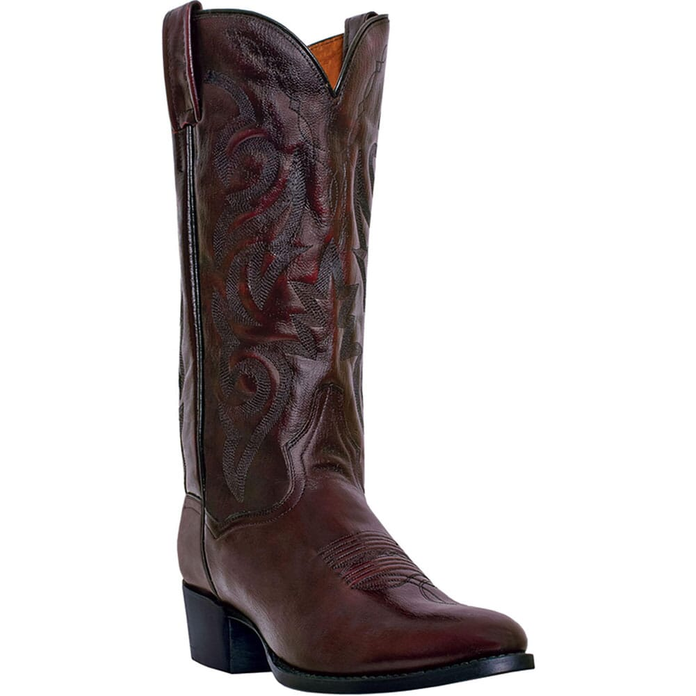 Image for Dan Post Men's Milwaukee Western Boots - Black Cherry from bootbay