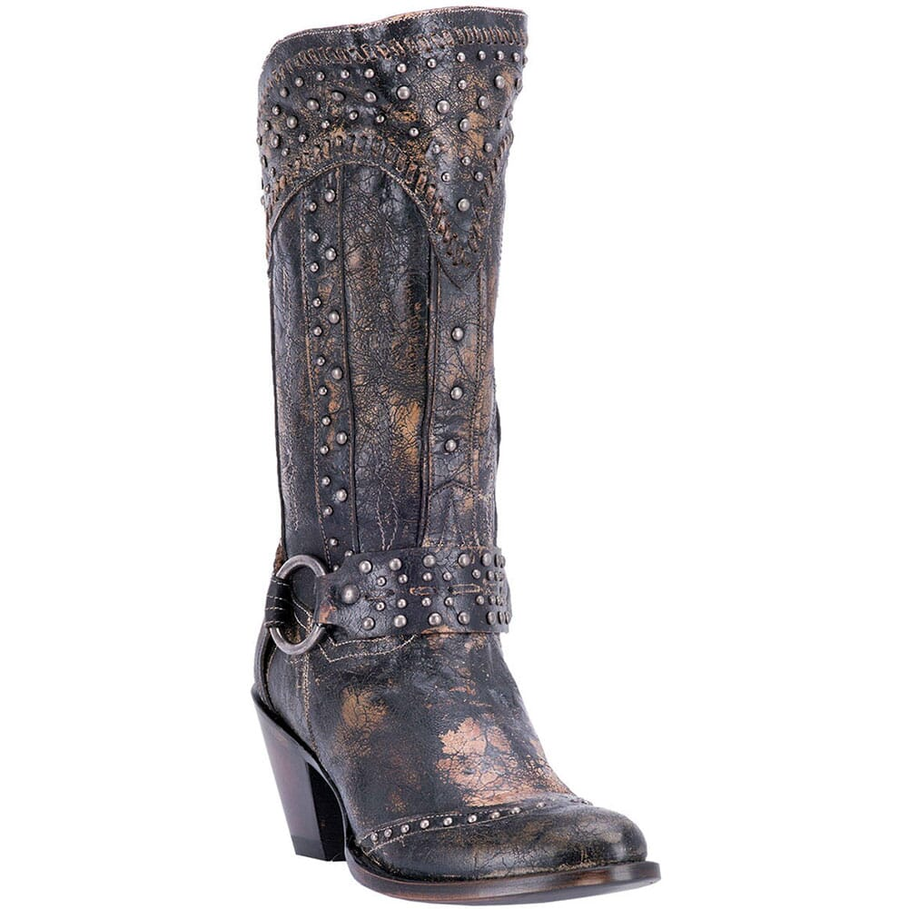 Image for Dan Post Women's Sexy BackWestern Boots - Black from bootbay