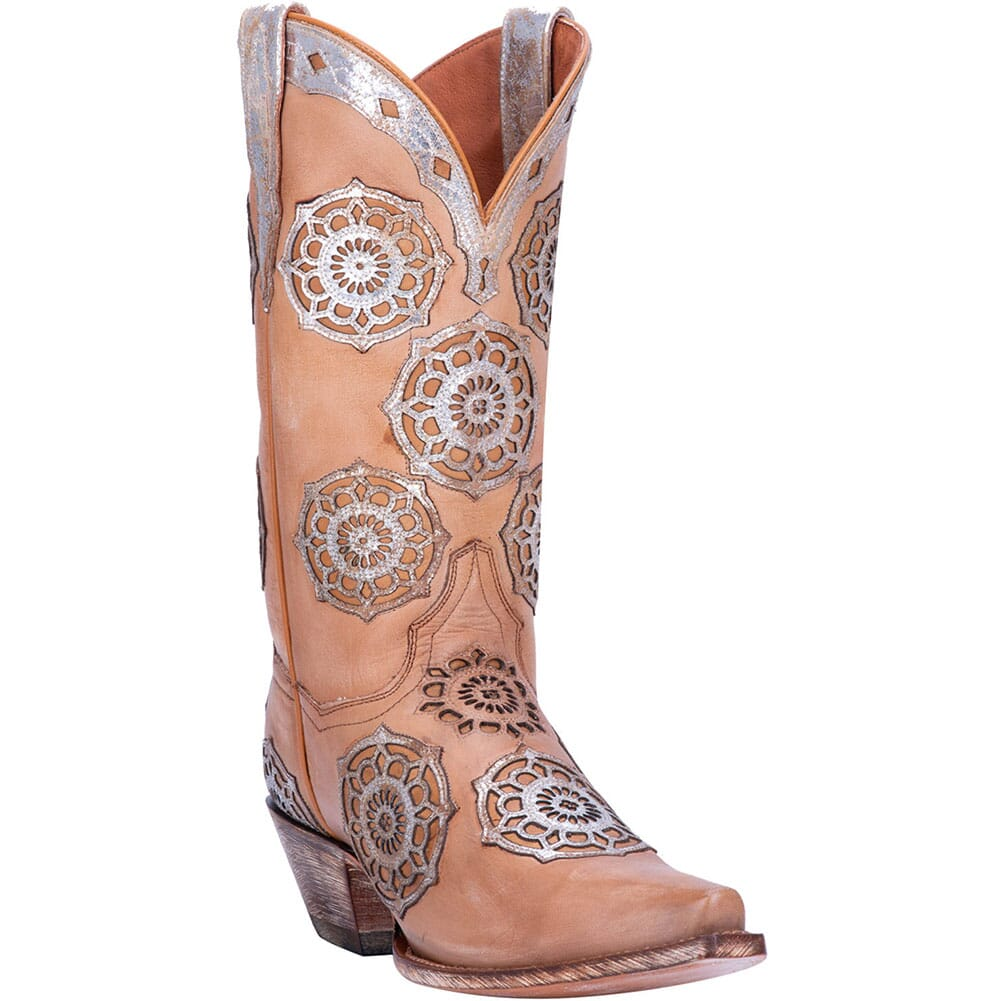 Image for Dan Post Women's Circus Flower Western Boots - Tan from elliottsboots
