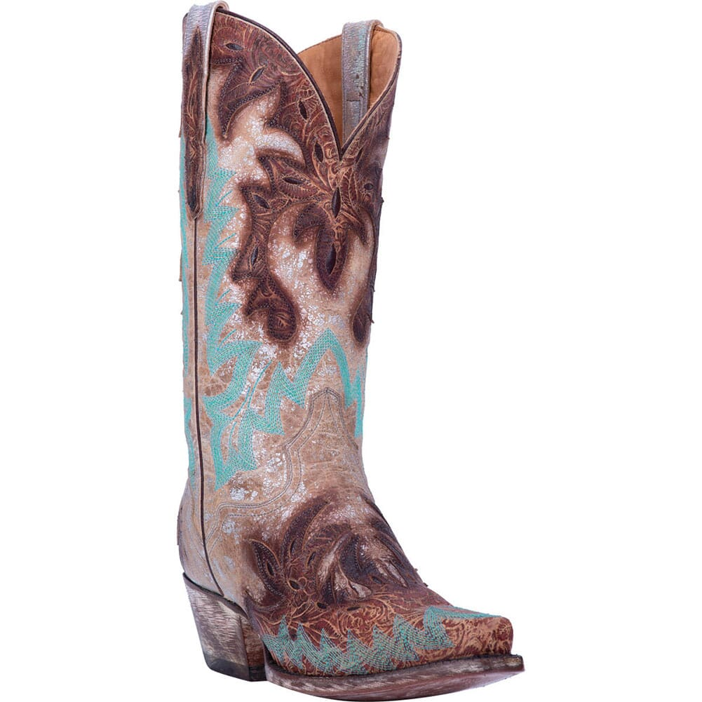 Image for Dan Post Women's All Eyes On Me Western Boots - Brown/Silver from bootbay