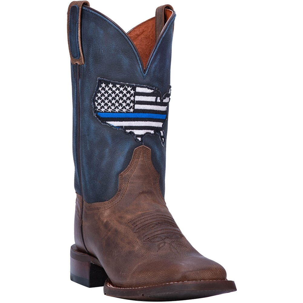 Image for Dan Post Women's Thin Blue Line Western Boots - Navy/Brown from elliottsboots