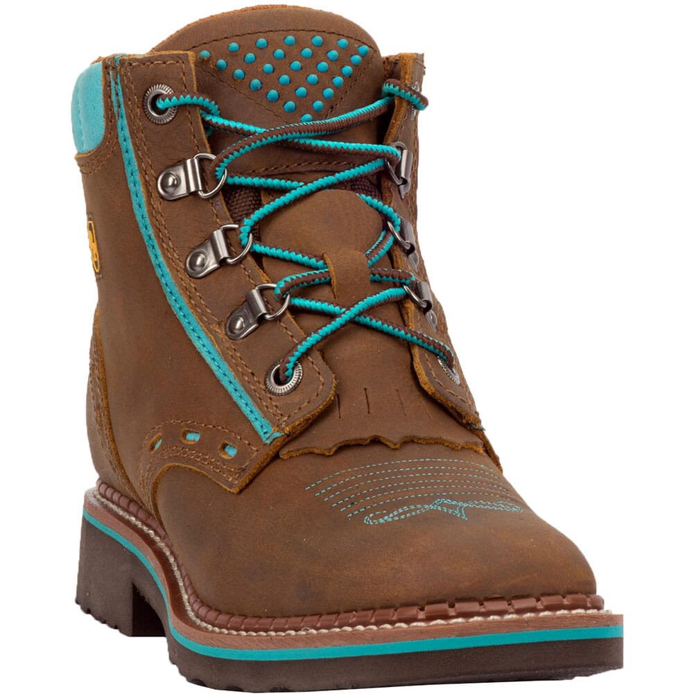 Image for Dan Post Women's Janesville Western Boots - Tan/Turquoise from bootbay