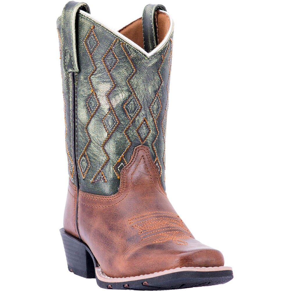 Image for Dan Post Youth Teddy Western Boots - Rust/Green from bootbay