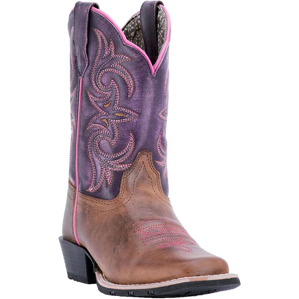 Image for Dan Post Youth Majesty Western Boots - Purple/Brown from bootbay