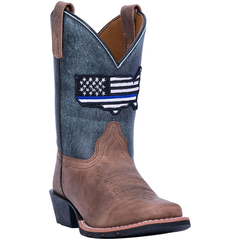 Image for Dan Post Youth Thin Blue Line Western Boots - Blue from bootbay