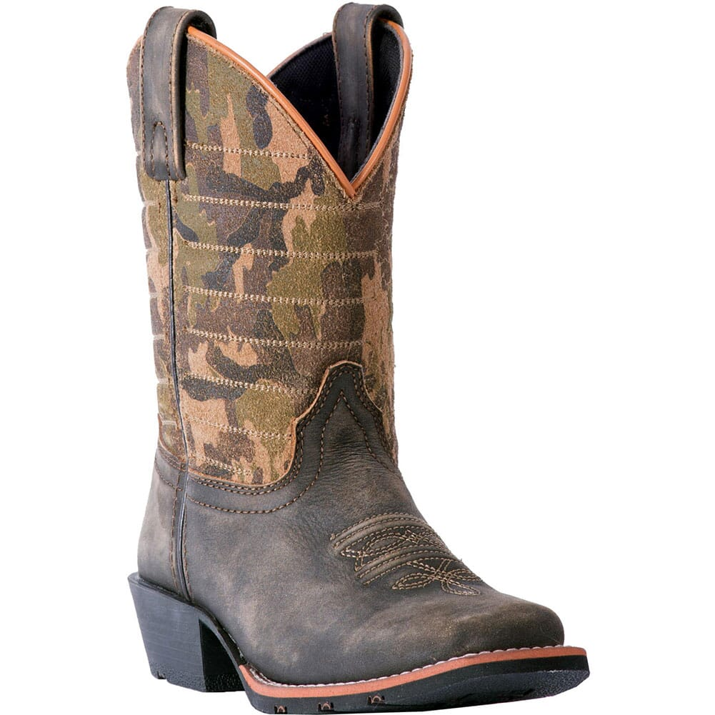 Image for Dan Post Youth Foxtrot Western Boots - Camo/Dark Brown from bootbay