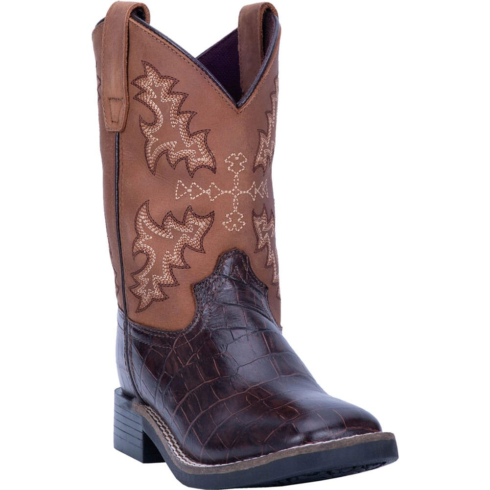 Image for Dan Post Youth AL E. Gator Western Boots - Brown/Black from bootbay
