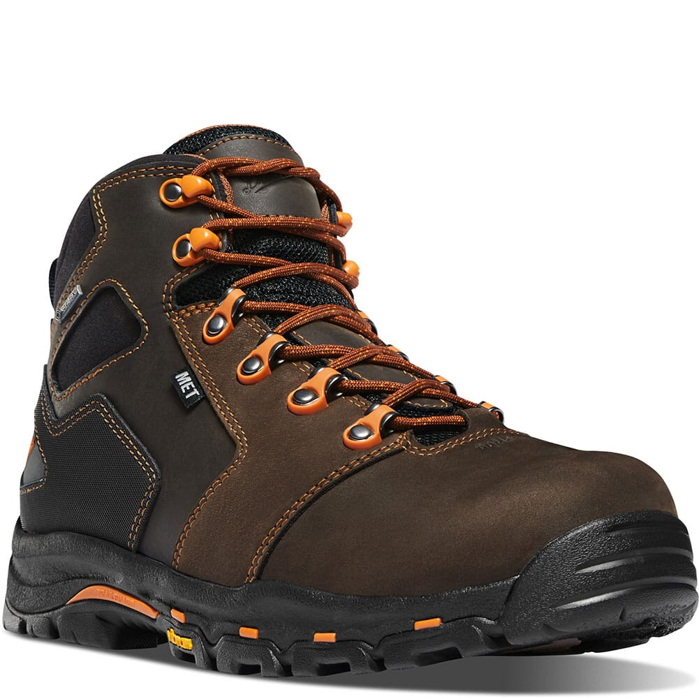 Image for Danner Men's Vicious Met Guard GTX Safety Boots - Brown/Orange from bootbay