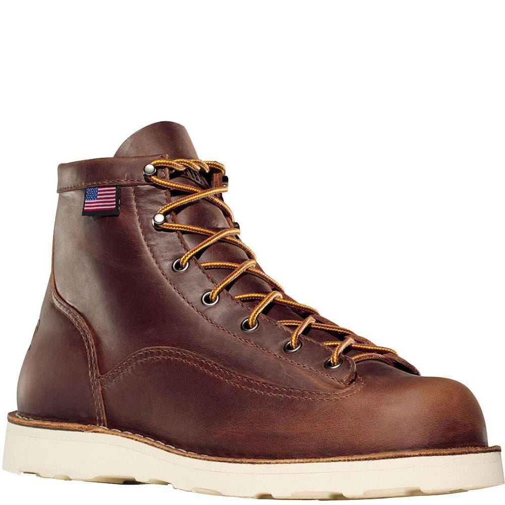 Image for Danner Men's Bull Run 6IN Work Boots - Brown from bootbay