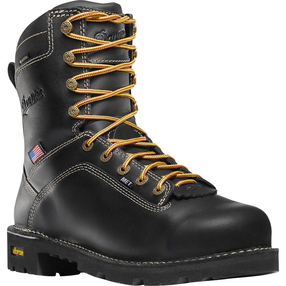 Image for Danner Men's Quarry USA MET Guard Safety Boots - Black from bootbay